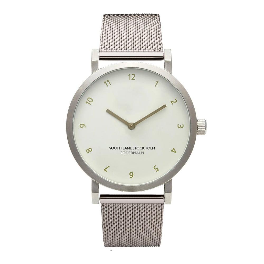 Unisex hodinky s řemínkem ve stříbrné barvě South Lane Stockholm Sodermalm Simplicito