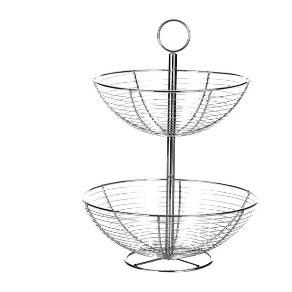 Baker 2 szintes fém gyümölcsös kosár, magasság 41 cm - Unimasa