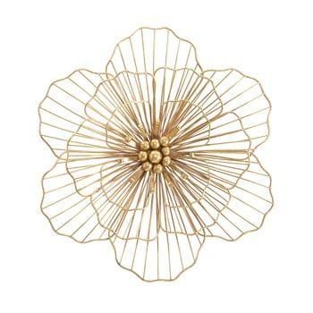 Decorațiune pentru perete Mauro Ferretti Flower Stick, 45x42cm, auriu imagine