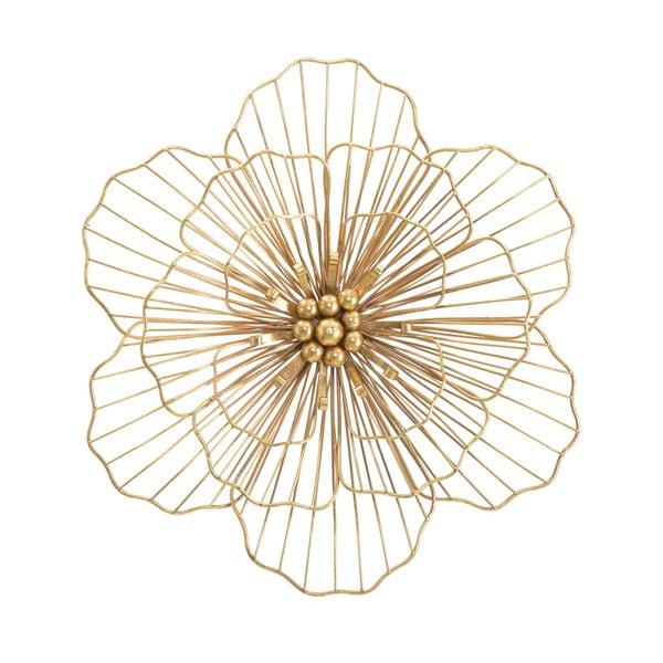 Flower Stick aranyszínű fali dekoráció, 45 x 42 cm - Mauro Ferretti