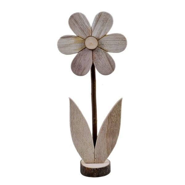 Veľká drevená dekorácia v tvare kvetiny Ego Dekor, 16,5×39 cm