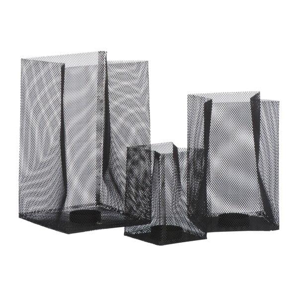 Svícen Metal Black, 14x14x23 cm