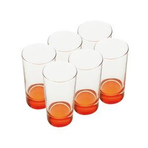 Sada skleniček, 460 ml, oranžové