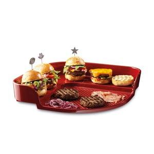 Tác na burgery Emile Henry, červený