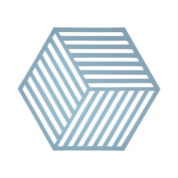 Podložka pod horké nápoje Hexagon, světle modrá