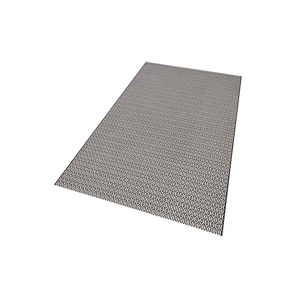 Černobílý koberec vhodný i na ven Meadow, 160x230cm