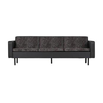 Canapea cu 3 locuri pentru exterior BePureHome Rodeo, negru de la BePureHome