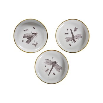 Set 3 farfurii decorative WOOOD Insect imagine