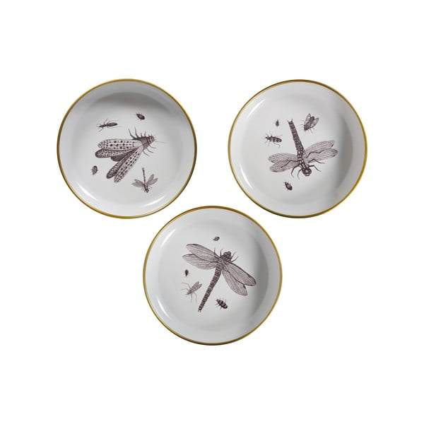 Set 3 farfurii decorative WOOOD Insect