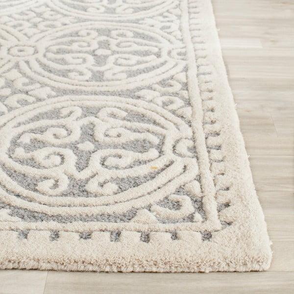 Vlněný koberec Marina Blue, 121x182 cm