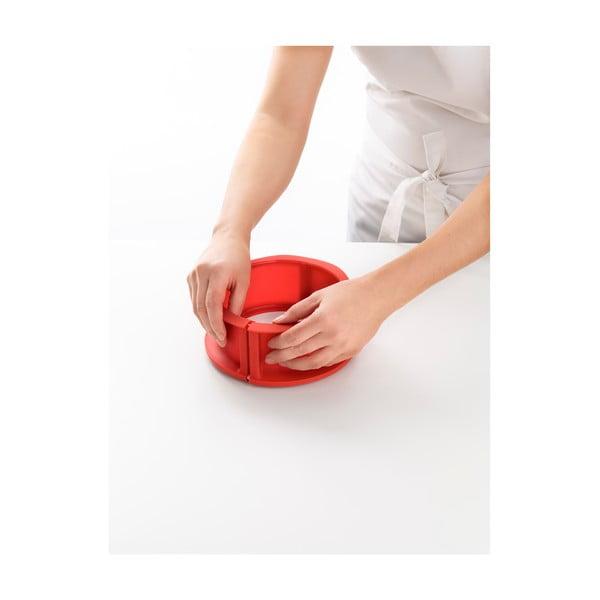 Červená silikonová rozevírací forma na dort Lékué, ⌀ 15 cm