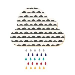 Dekorativní samolepící nástěnka Dekornik White Cloud With Colorful Drops