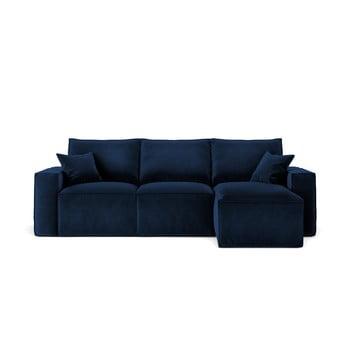 Colțar cu șezlong pe partea dreaptă Cosmopolitan Design Florida, albastru închis imagine