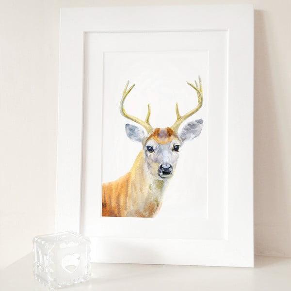 Plakát Deer Portrait A4