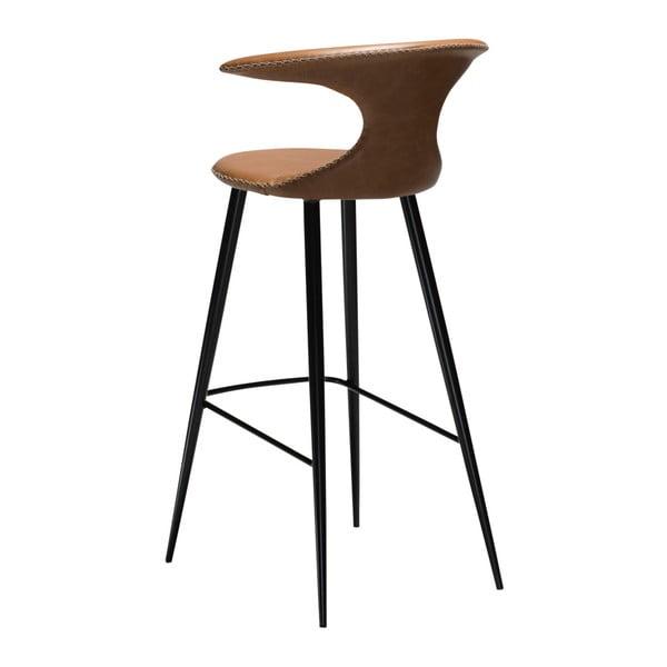 Hnědá barová židle s koženým sedákem DAN-FORM Denmark Flair