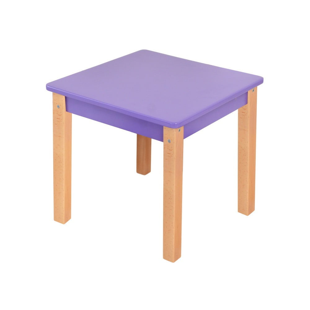 Fialový dětský stolek Mobi furniture Mario