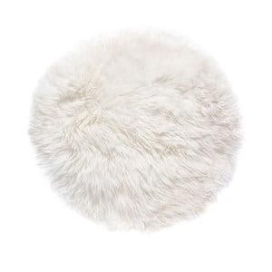 Bílý koberec z ovčí kožešiny Royal Dream Zealand,Ø70cm