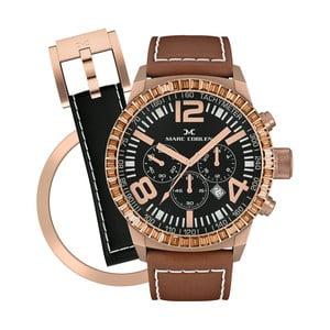 Dámské hodinky Marc Coblen s páskem a kroužkem navíc P107