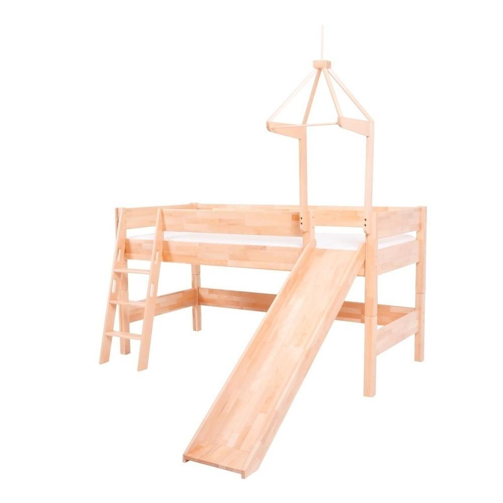 Dětská patrová postel z masivního bukového dřeva Mobi furniture Luk, 200 x 90 cm