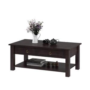Tmavě hnědý konferenční stolek z borovicového dřeva Støraa Inda