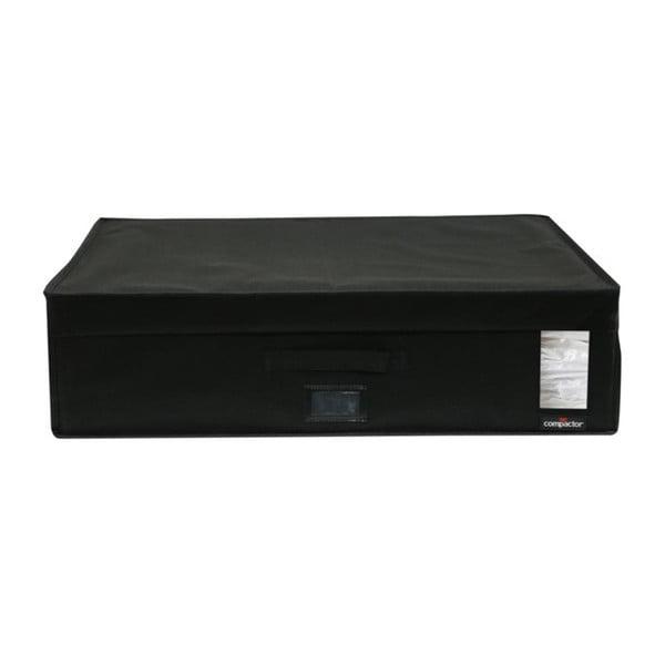 Černý úložný box s vakuovým obalem Compactor Infinity, objem 180 l
