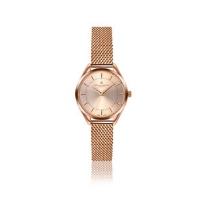 Dámské hodinky v barvě růžového zlata s páskem z nerezové oceli Frederic Graff Melissa