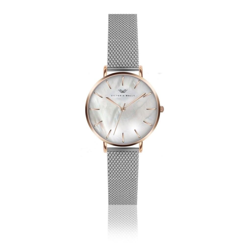 Dámské hodinky s kovovým řemínkem Victoria Walls Pearl