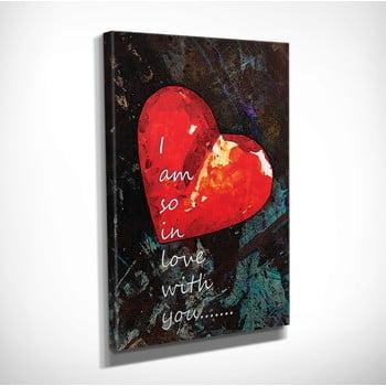 Tablou pe pânză Heart, 30 x 40 cm