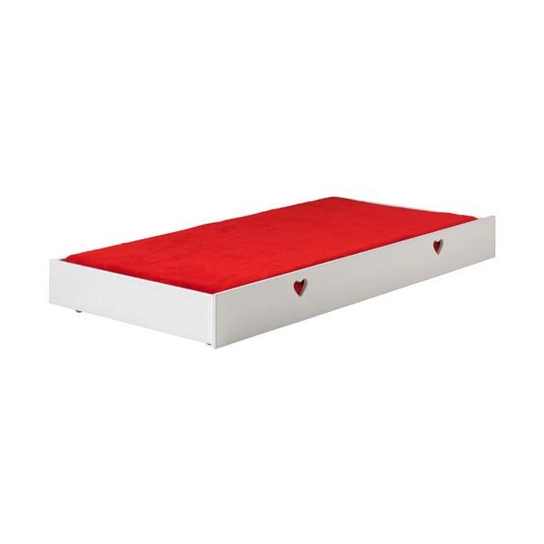 Biała szufalda pod łóżko Amori Vipack Drawer