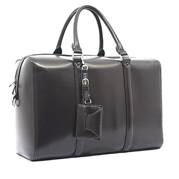 Taška/kabelka Bobby Black - šedá, 45x30 cm