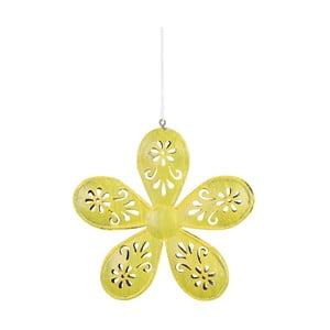 Žlutá závěsná dekorace v motivu květiny Ego Dekor, ⌀ 13,5 cm