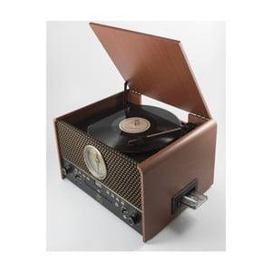 Hnědý gramofon GPO Chesterton Rose Wood