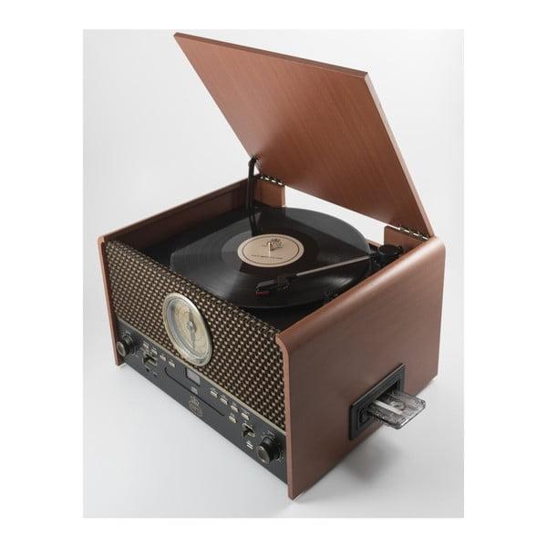 Hnedý gramofón GPO Chesterton Rose Wood