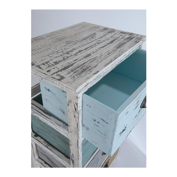 Barevná dřevěná komoda se 4 šuplíky Clayre & Eef