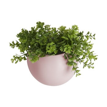 Ghiveci suspendat din ceramică PT LIVING Globe, roz deschis
