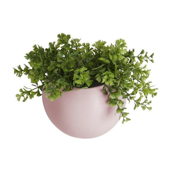 Jasnoróżowa ceramiczna doniczka wisząca PT LIVING Globe