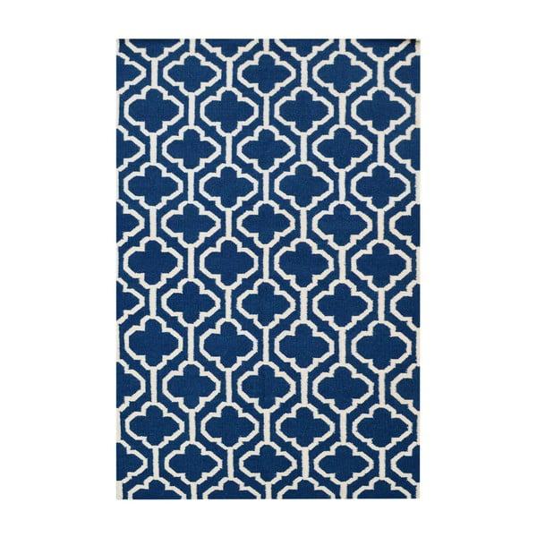 Vlněný koberec Penelope Dark Blue, 140x200 cm