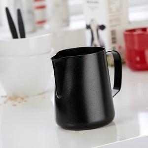 Černá nerezová mléčenka Steel Function, 600 ml