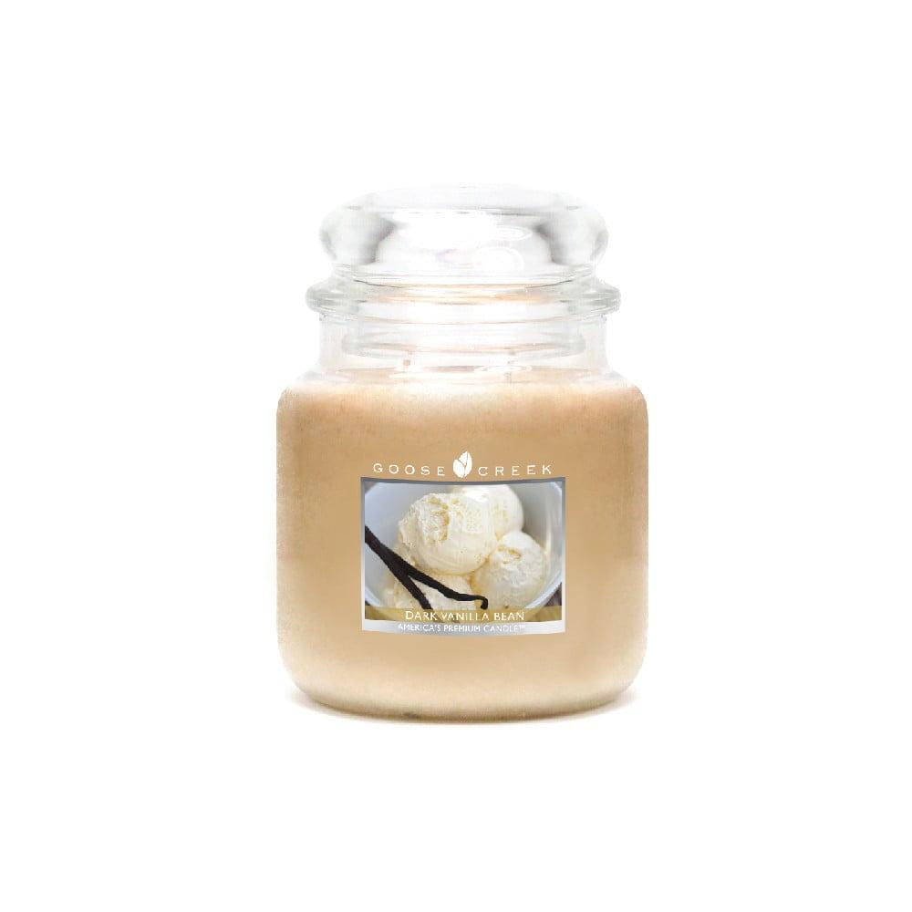 Vonná svíčka ve skleněné dóze Goose Creek Tmavě vanilkové fazole, 0,45 kg