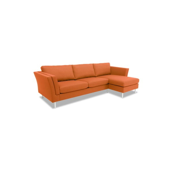 Oranžová pohovka s lenoškou na pravé straně Vivonita Connor