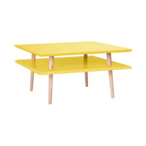 Žlutý konferenční stolek Ragaba Square, 68x68cm