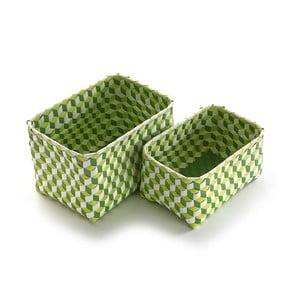 Sada 2 zelených košíků Versa Baskets Large
