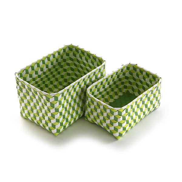 Set 2 coșulețe Versa Baskets Large, verde