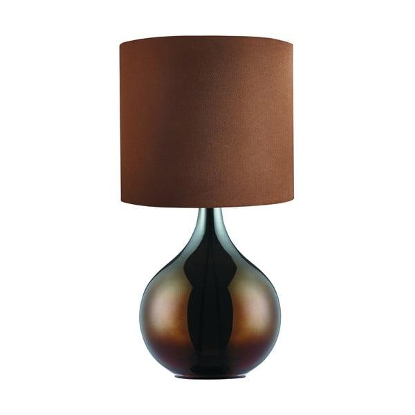 Stolní lampa Bulbo, hnědá