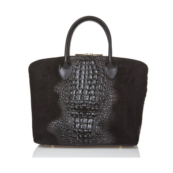 Černá semišová kabelka Giorgio Costa Candace