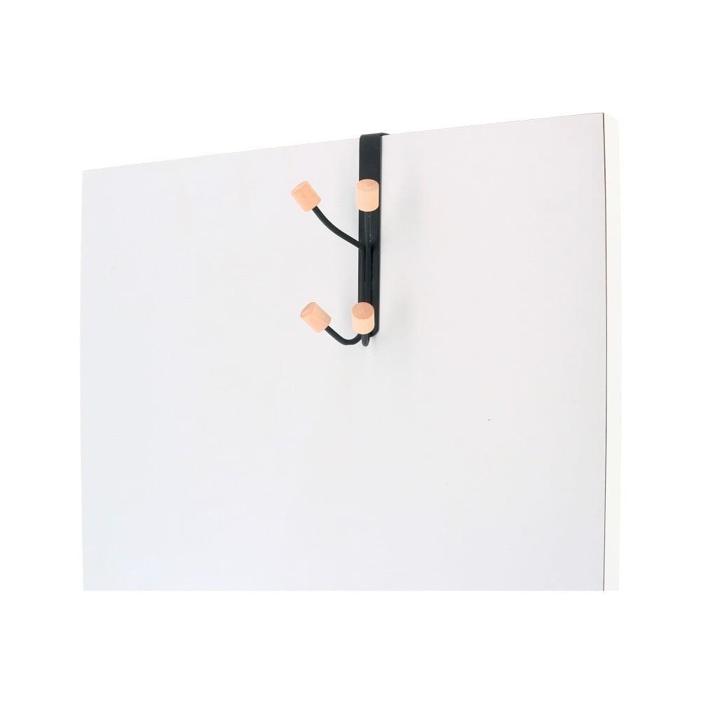 Věšák na dveře z kovu s 4 háčky Compactor