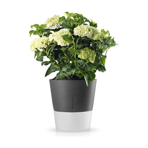Samopodlévací květináč na bylinky Eva Solo Stone Grey, 25 cm