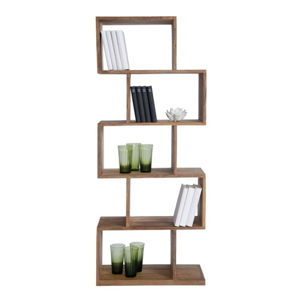Bibliotecă din lemn sheesham Kare Design Authentico ZickZack