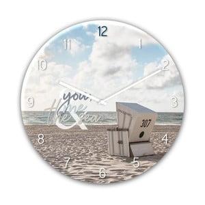 Skleněné nástěnné hodiny Styler The Se