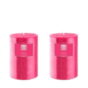 Set dvou svíček 10 cm, růžové, 48 hodin hoření